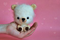 Bo, A Hand Crocheted Teddy Bear by Petra of Zoom Yummy