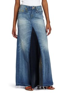 Jeans-skirt -- yes, jeans with a skirt back. How many times a day would you trip in this? $280