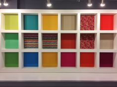 Just try to keep your eyes off this great wall of color and pattern at the Momentum Group showroom! NeoCon 2014