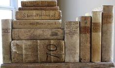 diy ideas, vintage books, book display, vellum book, book collection, antique books, antiqu book, antiques, old books