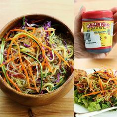 I gave a sneak peak of this delicious raw veggie/kelp noodle bowl with tamarind dressing
