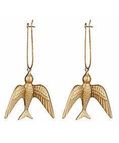 Swallow drop earrings