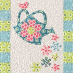 Lovely spring quilt. Detail