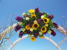wedding arch with sunflowers - Google Search