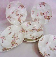 French Haviland Limoges Oyster Plates set of 8
