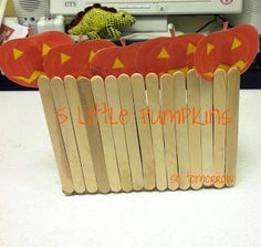 "so tomorrow: ""Five Little Pumpkins"" with Craft Stick Puppets"