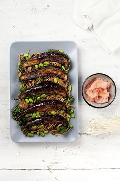 miso roasted eggplant salad
