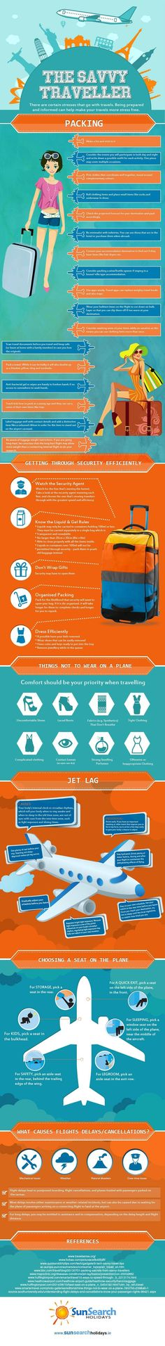 The Savvy Traveller #infographic #Travel #Infografía
