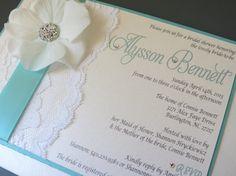 TIFFANY Themed Wedding Shower Invitation  by peachykeenevents, $5.00
