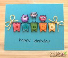 Very cute handmade cards on her blog!