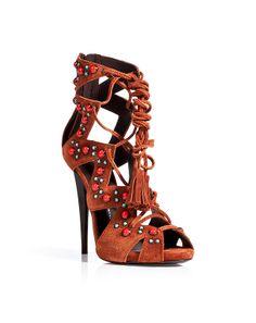 Giuseppe Zanotti Suede Embellished Lace-Up Gladiator Stiletto Sandals £ 900 Spring Summer 2014 #Shoes #Heels