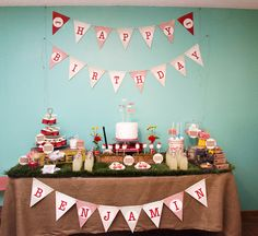 Vintage Red Wagon Party -lots of darling details