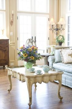 chic decor, occasional tables, coffee tables, cottag, decor inspir, occasion tabl, french country, french countri, habersham