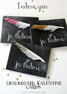 French Chalkboard Valentines + a Valentine Link Party! January 28, 2013 by Kellie 34 Comments