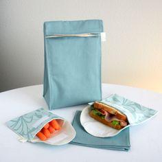 aqua blue, lunches, friend organ, insul lunch, lunch bags, 6000, set eco, eco friend, bag set