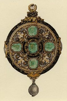 Sketch for a Pendant by Hans Holbein the Younger c.1532-43.  British Museum.