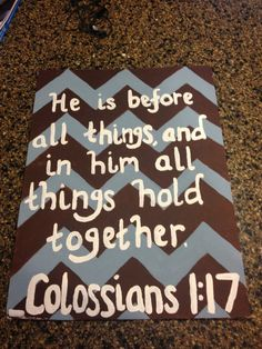Chevron Bible Verse Painting by BonnieBelleShop on Etsy, $17.00