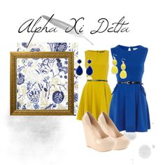 Alpha Xi Delta, created by char-jarman on Polyvore