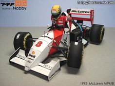 Ayrton Senna`s MP4/8 Formula 1 Paper Model - by METMANIA