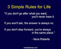 nora roberts, step forward, biggest dream, simpl rule, the rules