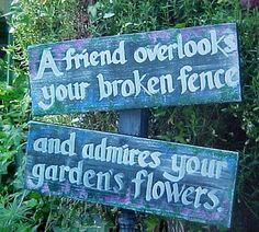 """Pinner: """"I love this one :)"""".  Me too!  Appropriate Garden sign"""