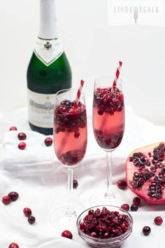 Cranberry Pomegranate Champagne Sparkler