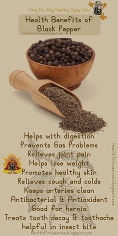 Health Benefits of Black Pepper.