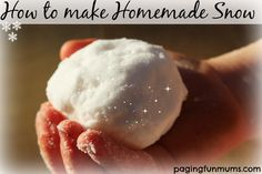 How to make Homemade Snow..using Household ingredients! Great for the Frozen fans!