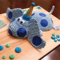 Blues Clues Cake for Matthew's 3rd Birthday! #EasyNip