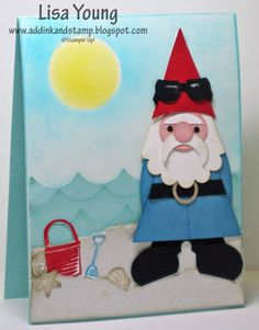 Stampin' Up!  Punch Art  Lisa Young  Gnome