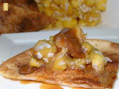 Sweet Tortillas with Tropical Salsa - love this sweet treat! #WhatTheHack