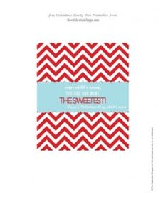 TheCelebrationShoppe.com FREE Chevron Valentine Candy Bar Wrapper printables