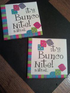 bunco night coasters