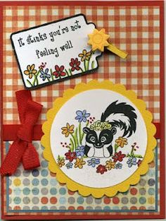 Cute Get Well card with Skunk!