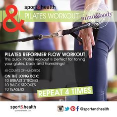 This quick Pilates Reformer workout is perfect for toning your glutes, back and hamstrings!