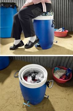 Foot powered washing machine
