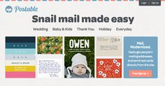 Postable   Snail Mail Made Easy www.postable.com
