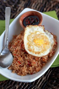 Nasi Goreng (Indonesian Fried Rice) for breakfast