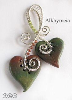 wire wrapped leaf [Flickr: Alkhymeia]
