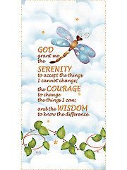 """New Patterns & Supplies - Dragonfly Serenity Panel - 6"""" x 12"""""""