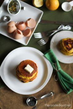 Lemon Poppy Seed Coconut flour Pancakes #glutenfree #paleo