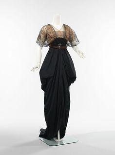 vintag, edwardian fashion, dinner, 1910, costum, evening dresses, houses, cloth, gown