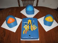 Cub Scout cake ideas - shirt & hat