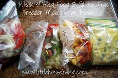 Real Food and Gluten Free Meals for a Week in an Hour! (freezer, crockpot)