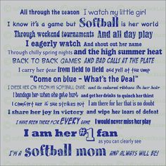 true for me with my son in baseball, of course, except for the ribbons in her hair  LOL