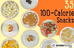 What a 100-Calorie Snack Looks Like via @SparkPeople