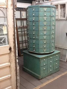 104-drawer swivel cabinet; The Agoura Antique Mart #Repin By:Pinterest++ for iPad#