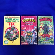 Lot 3 Teenage Mutant Ninja Turtles VHS Movie 3 Coming Out of Their Shells Tour