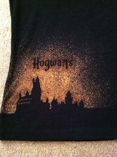 Harry Potter Hogwarts - hand designed shirt on Etsy, $20.00