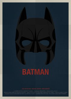 Alejandro de Antonio's Minimal Movie Poster Designs - Batman #art